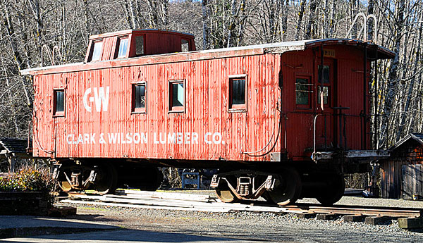 Clark & Wilson wood-sided caboose